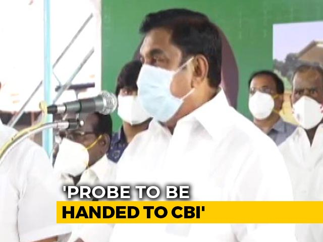 Video : Tamil Nadu Police Custody Deaths To Be Handed Over To CBI: Chief Minister