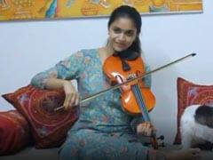 Keerthy Suresh Played Her Birthday Wish For Vijay On A Violin