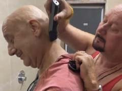 Anupam Kher Gets A Quick Haircut From Brother Raju Kher. See Their ROFL Video