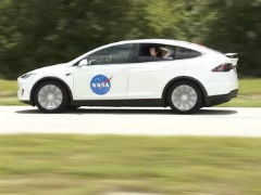 A Tesla Model X Transported SpaceX Astronauts To The Shuttle On Launch Day