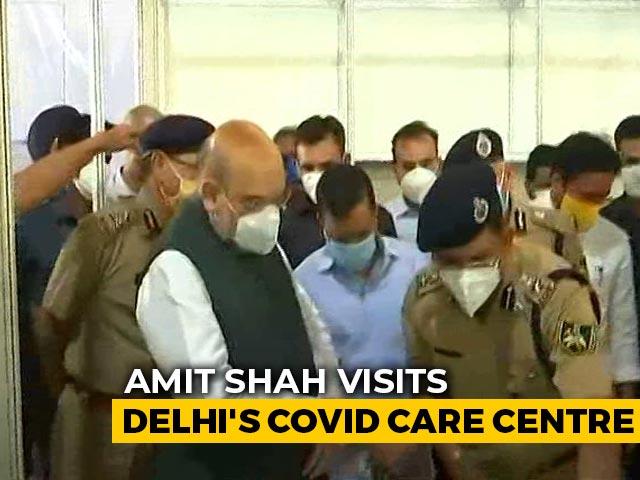 Video : Arvind Kejriwal, Amit Shah Visit Biggest COVID-19 Centre In Delhi