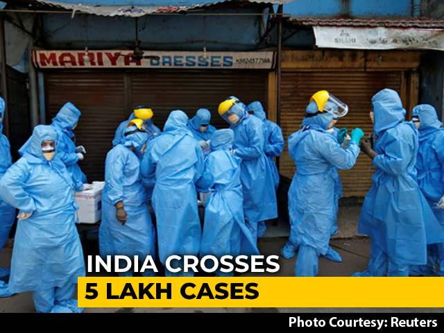 Video : Over 18,000 Covid Cases In 24 Hours For 1st Time; 5.08 Lakh Total Cases