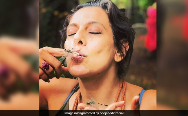 This Picture Of Pooja Bedi With Dragonflies Will Drive Your Lockdown Blues Away