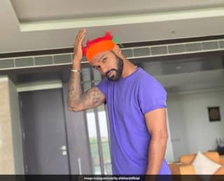 """Shikhar Dhawan """"Finally Got Some Hair"""" In Lockdown And His Fans Are Loving It"""