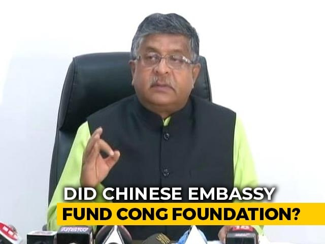 Video : Chinese Funds For Rajiv Gandhi Foundation: BJP's Latest Political Attack