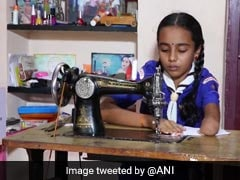 Karnataka 10-Year-Old, Born With One Hand, Stitches Masks For Students