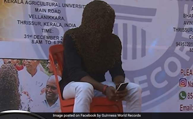 Meet The Kerala Man Who Spent Over 4 Hours With Head Covered In Bees, Set World Record