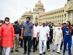 'Mask Day' In Karnataka, Yediyurappa, Others March To Spread Awareness