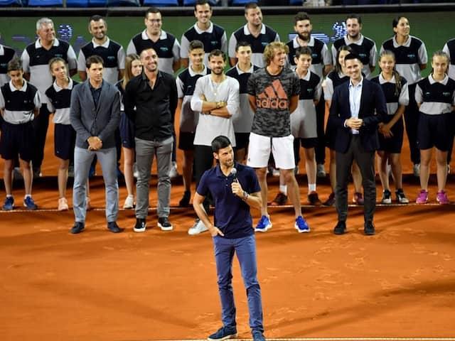 Novak Djokovic Breaks Down In Tears At Belgrade Event