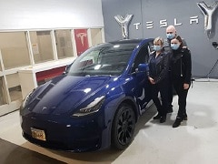 Tesla Model Y Makes Its Debut As A Police Car In New York