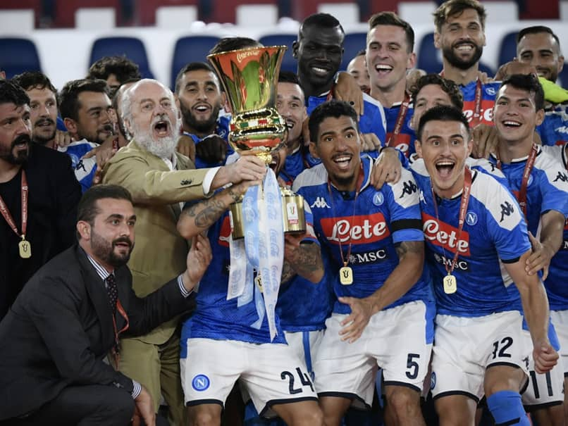 """Theres A God Of Football"": Gennaro Gattuso As Napoli Win Sixth Italian Cup"