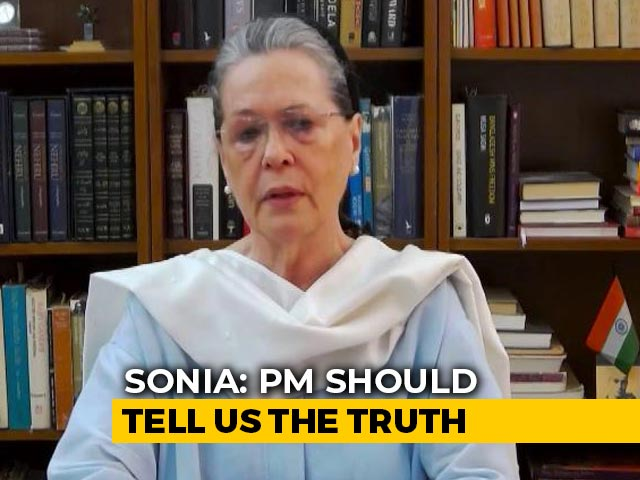 Video : Sonia Gandhi's Questions To PM Modi After India-China Face-Off In Ladakh