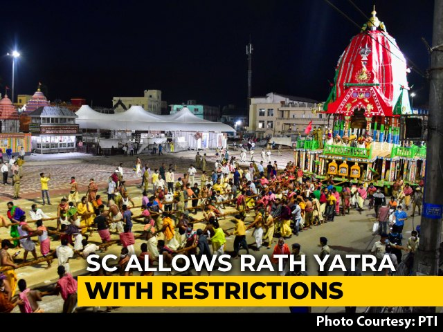 Video: Odisha Can Organise Rath Yatra But With Restrictions, Curfew: Top Court