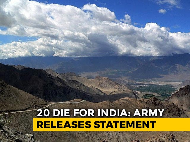 Video : 20 Indian Soldiers Killed; 43 Chinese Casualties In Ladakh, Says ANI