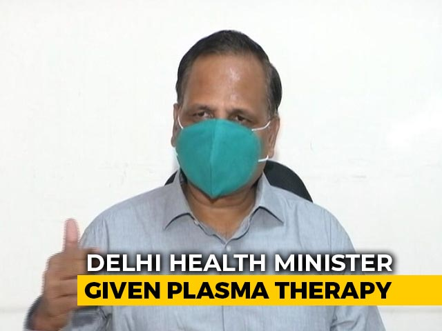 Video : Delhi Health Minister's Condition Improves After Plasma Therapy