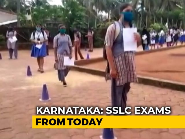 Video : Masks, Distancing In Classrooms For Karnataka Class 10 Exams Today