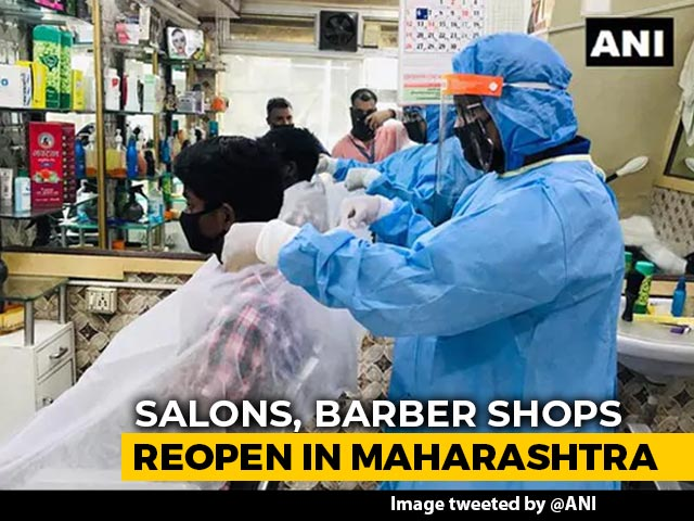 Video : Salons Reopen In Maharashtra After Over 3 Months