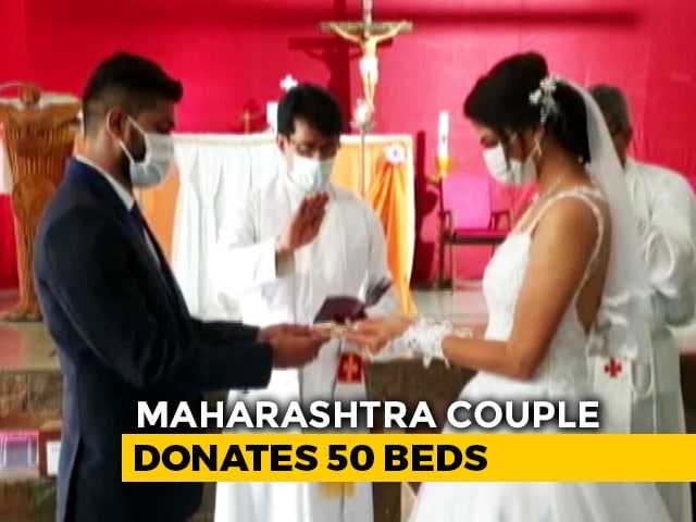 Video : Newly-Wed Couple Donates 50 Beds To COVID-19 Care Centre In Maharashtra