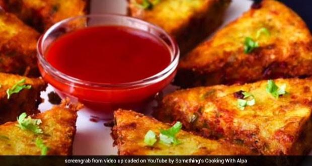 Watch: How To Make Crispy Veg Sooji Triangles For Yummy Breakfast And Snacks
