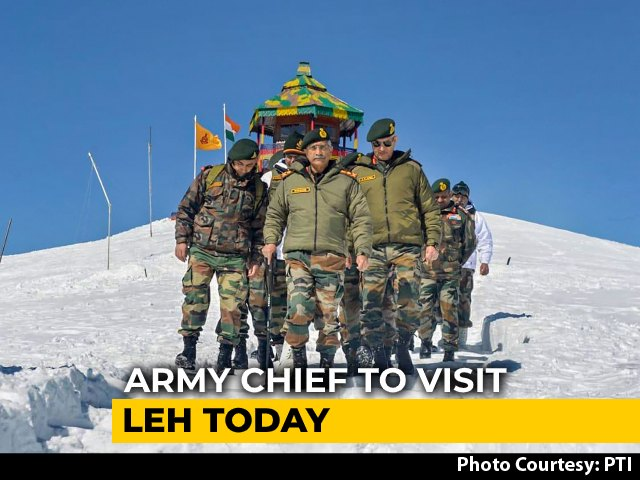 Video : Army Chief's Visit To Ladakh Today, Week After Deadly Clash With China