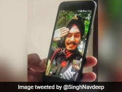 On Video Call, Father-Son Salute Each Other In Army Uniform, Win Hearts