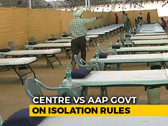 Video : 5-Day Institutional Quarantine Mandatory In Delhi, AAP Government Upset