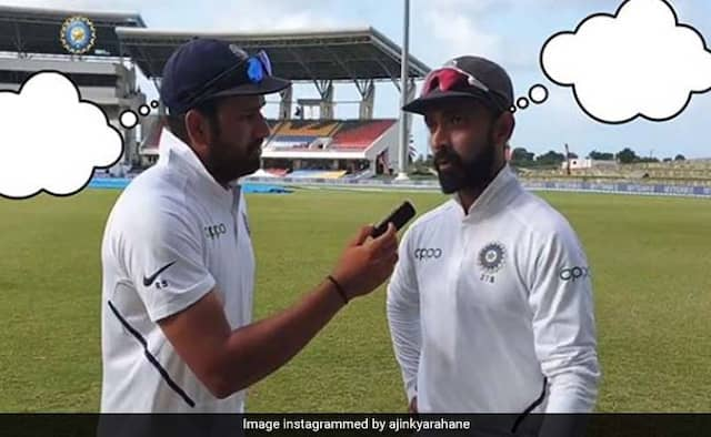 Ajinkya Rahane Asks Fans To Complete Fill in the blanks, Shikhar Dhawan trolls Rohit Sharma