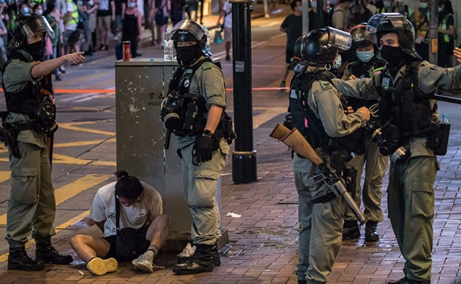 Hong Kong Police Charges First Person Under New Security Law
