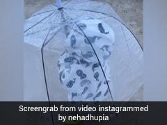 बरसात में छाता लेकर मस्ती करती दिखी नेहा धूपिया की बेटी मेहर, क्यूट Video हुआ वायरल