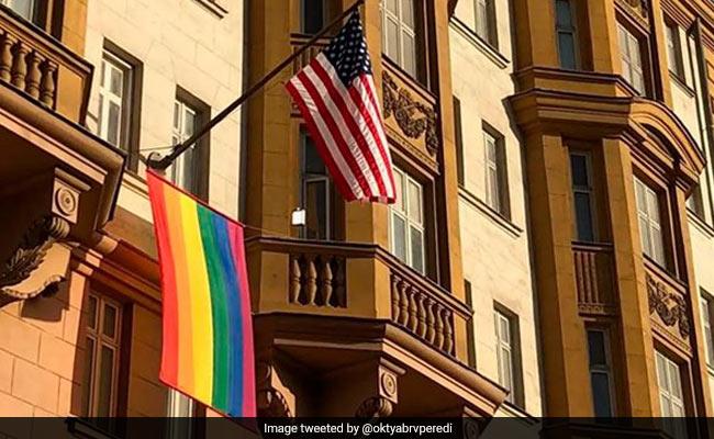 Vladimir Putin Mocks Rainbow Flag Outside US Embassy In Moscow