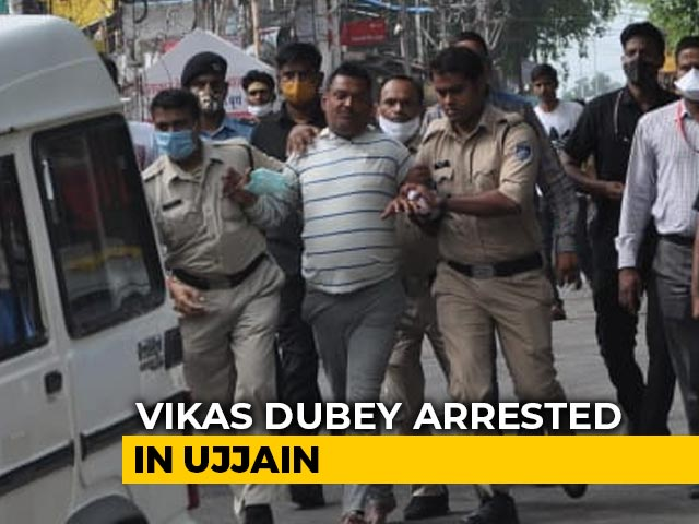Video : UP Gangster Vikas Dubey, Wanted In Killing Of 8 Cops, Arrested In Madhya Pradesh