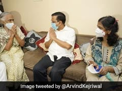 """People's Doctor"": Arvind Kejriwal Meets Family Of Covid Warrior Who Died"