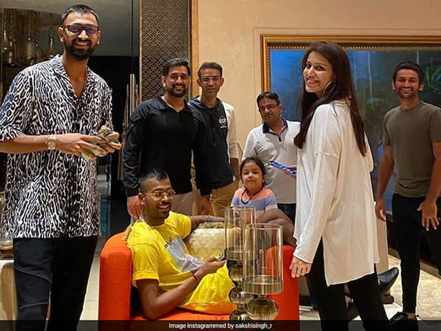 """Missing The Happy Squad"": Sakshi Shares Picture Of MS Dhonis Birthday Celebration"