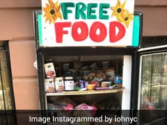 New York Residents Set Up Colourful 'Friendly Fridges' To Distribute Free Food To Needy