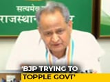 "Video : ""BJP Offering MLAs 15 Crore, Trying To Topple Government"": Ashok Gehlot"