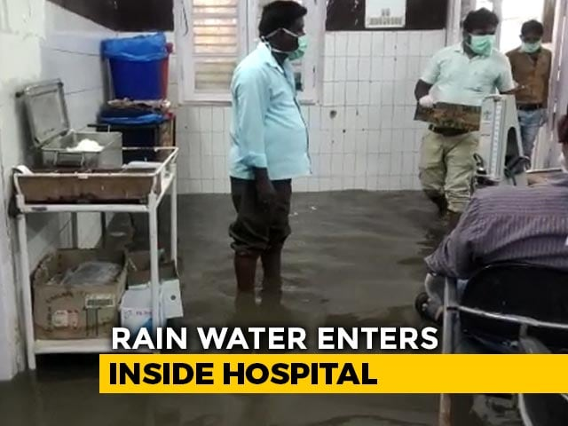 Video: One Hour Of Rain Leaves UP Hospital Flooded | NDTV Beeps