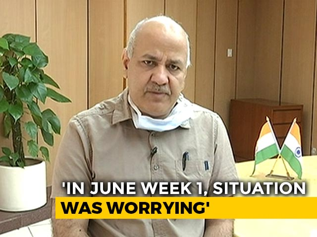 """Video : """"9,000 Out Of 15,000 COVID-19 Beds In Delhi Vacant"""": Manish Sisodia"""