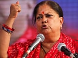 "Video : Vasundhara Raje Asked Congress MLAs To ""Support Ashok Gehlot"", Alleges Ally"