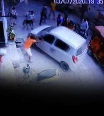दिल्ली पुलिस के सब-इंस्पेक्टर ने महिला को मारी टक्कर, भागने के फिराक में चढ़ा दी गाड़ी- CCTV में हुआ कैद