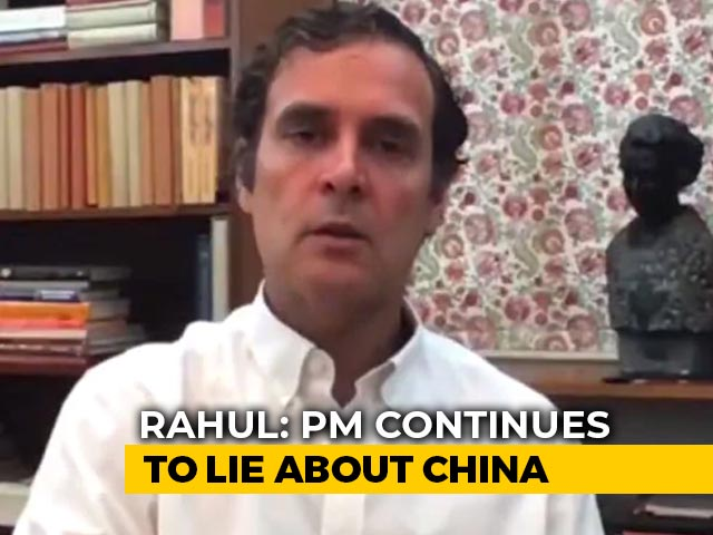 """Video : """"PM Continues To Lie, Deceive About China"""": Rahul Gandhi In Fresh Attack"""