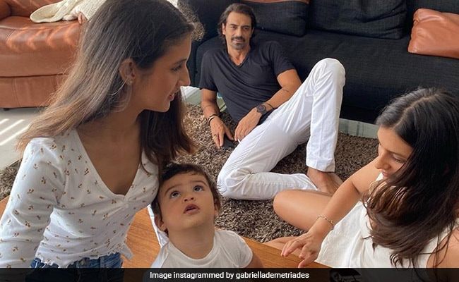 Here's How Arjun Rampal's Daughter Mahikaa Wished Arik On His First Birthday