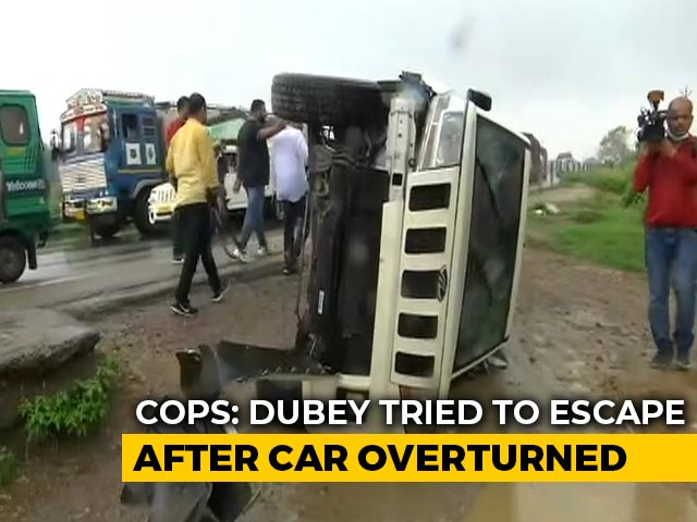 Video : Gangster Vikas Dubey Killed, Was Trying To Escape After Accident: Cops