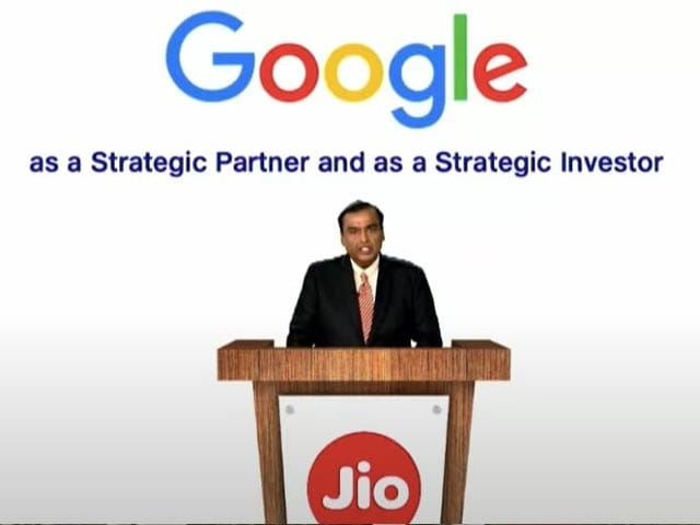 Video : Jio Gets Rs. 33,737 Crores Investment From Google for 7.7 Percent Stake