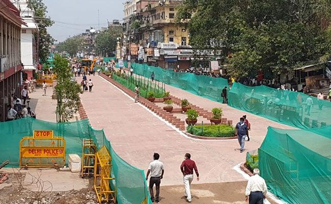 "Photo of Delhi's Chandni Chowk Road Notified As ""Non-Motorised"" Zone"
