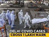 Video : Delhi Coronavirus Tally Crosses 1 Lakh, Reports 1,379 Cases In A Day
