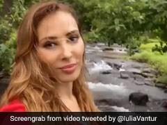 सलमान खान की दोस्त यूलिया वंतूर ने यूं लिया नेचर का आनंद, झील के किनारे बनाया Video
