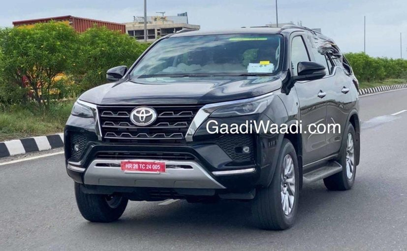 The Toyota Fortuner facelift comes with a redesigned front section with sharper features