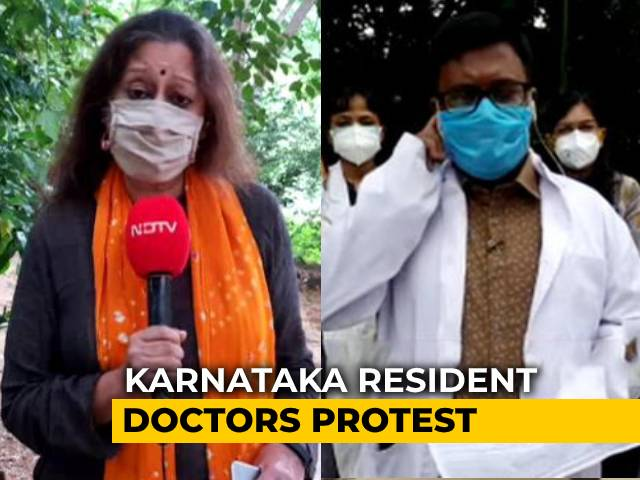 Video : Karnataka Resident Doctors Wear Black Bands To Work, Demand Security