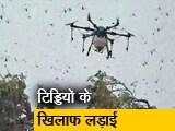 Video : ड्रोन-हेलीकॉप्टर से टिड्डियों पर वार, भारत में कई राज्य हुए हैं प्रभावित