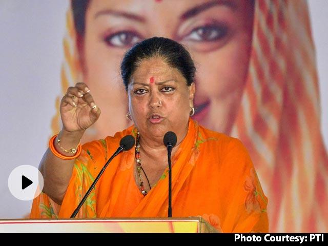 Video   Vasundhara Raje To Attend Key BJP Meet Tomorrow Amid Congress Crisis